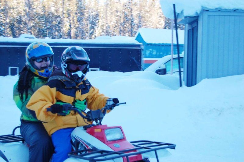 Kids riding